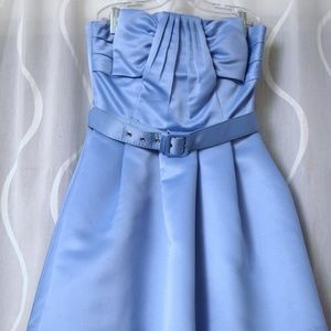 NWT Beautiful Robin's Egg Belted bow strapless dre